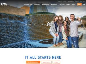 The University of Texas at Arlington's Website Screenshot