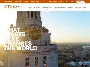 The University of Texas at Austin's Website Screenshot