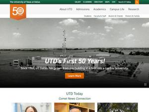 The University of Texas at Dallas Screenshot
