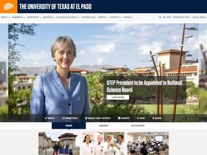 The University of Texas at El Paso's Website Screenshot