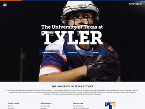 The University of Texas at Tyler's Website Screenshot
