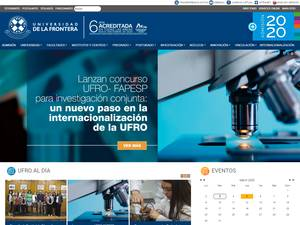 Universidad de La Frontera's Website Screenshot
