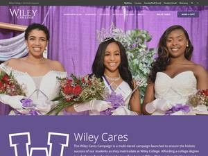 Wiley College's Website Screenshot