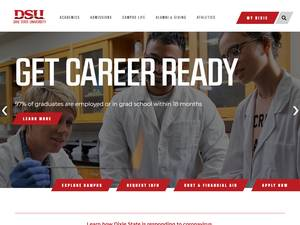 Dixie State University's Website Screenshot
