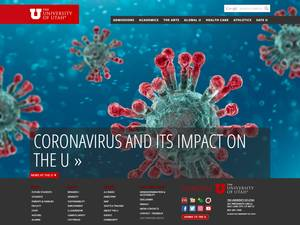 The University of Utah's Website Screenshot