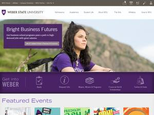 Weber State University's Website Screenshot