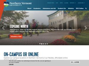 Northern Vermont University's Website Screenshot