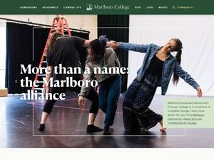 Marlboro College's Website Screenshot