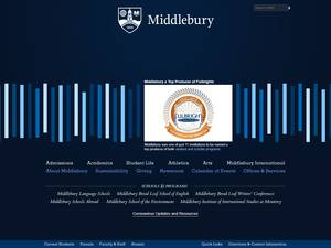 Middlebury College's Website Screenshot