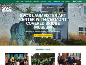Southern Vermont College's Website Screenshot