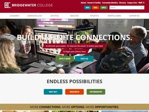 Bridgewater College's Website Screenshot