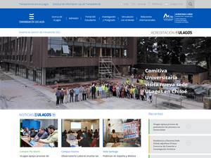 Universidad de los Lagos's Website Screenshot