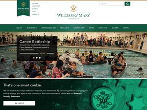 College of William & Mary's Website Screenshot