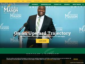 George Mason University's Website Screenshot