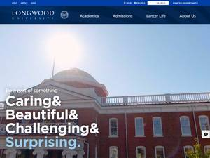 Longwood University's Website Screenshot