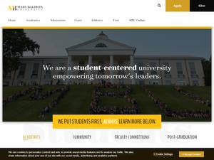 Mary Baldwin University's Website Screenshot
