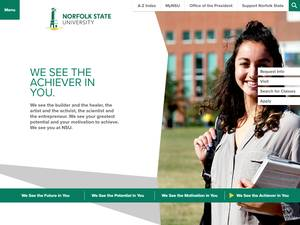 Norfolk State University's Website Screenshot