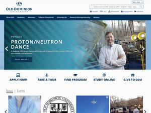 Old Dominion University's Website Screenshot
