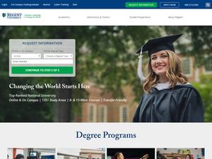 Regent University's Website Screenshot