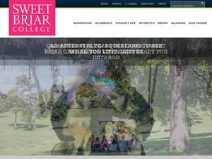 Sweet Briar College's Website Screenshot