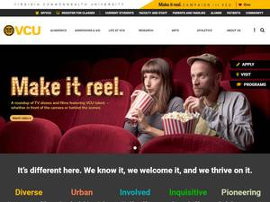 Virginia Commonwealth University's Website Screenshot