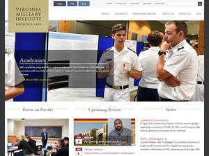 Virginia Military Institute's Website Screenshot