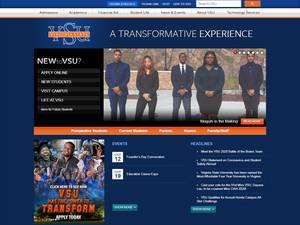 Virginia State University's Website Screenshot