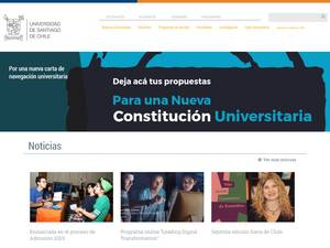Universidad de Santiago de Chile's Website Screenshot