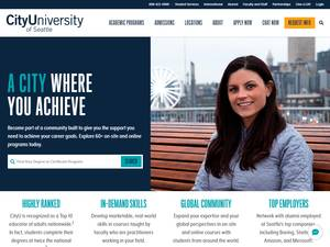 City University of Seattle's Website Screenshot