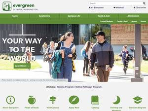The Evergreen State College's Website Screenshot