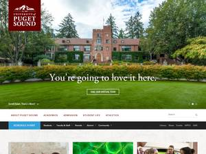 University of Puget Sound's Website Screenshot