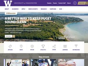 University of Washington's Website Screenshot