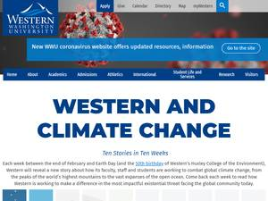 Western Washington University's Website Screenshot