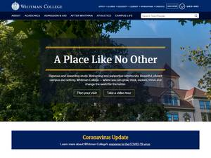 Whitman College's Website Screenshot