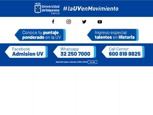 Universidad de Valparaíso's Website Screenshot