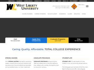 West Liberty University's Website Screenshot