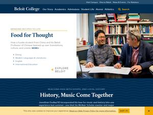 Beloit College's Website Screenshot