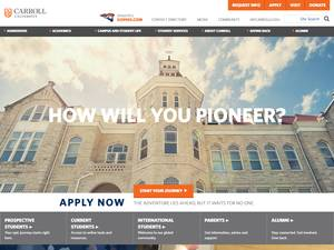 Carroll University's Website Screenshot