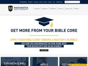 Maranatha Baptist University's Website Screenshot