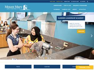 Mount Mary University's Website Screenshot