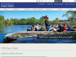 University of Wisconsin-Eau Claire's Website Screenshot