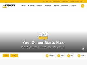 University of Wisconsin-Milwaukee's Website Screenshot
