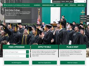 Wisconsin Lutheran College's Website Screenshot