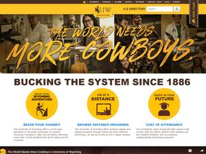 University of Wyoming's Website Screenshot