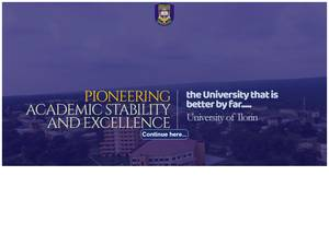 University of Ilorin's Website Screenshot