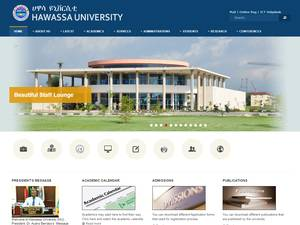 Hawassa University's Website Screenshot