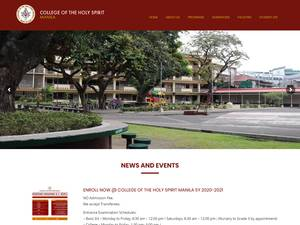 College of the Holy Spirit's Website Screenshot