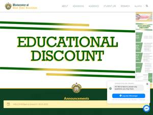 University of San Jose-Recoletos's Website Screenshot