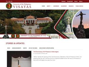 University of the Philippines in the Visayas's Website Screenshot