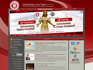 University of the East's Website Screenshot